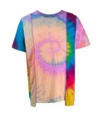 needles camiseta tie-dye - azul