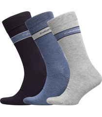 ck 3pk bamboo band logo 004 underwear socks regular socks multi/mönstrad calvin klein