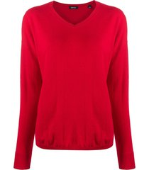 aspesi v-neck knit pullover - red