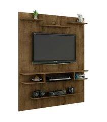 painel sigma madeira rústica móveis bechara marrom