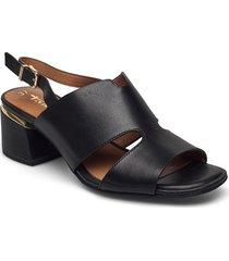 woms sandals shoes heels pumps sling backs svart tamaris