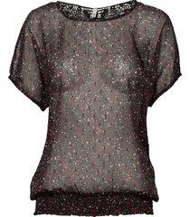 pzplanet blouse blouses short-sleeved röd pulz jeans