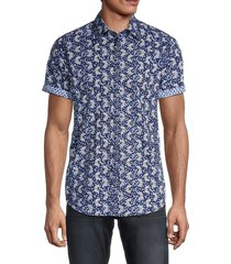robert graham men's alicante printed shirt - navy - size xl