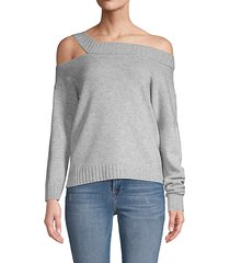 off-shoulder wool & cashmere sweater