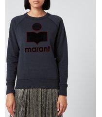 isabel marant étoile women's milly sweatshirt - faded black - fr 40/uk 12