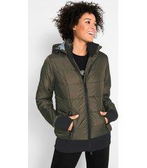 gewatteerde outdoor jas met gedessineerde voering