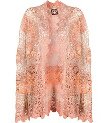 a.n.g.e.l.o. vintage cult 2000s floral-lace embroidered jacket - pink