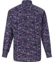 comfort fit overhemd van 100% katoen van hatico blauw