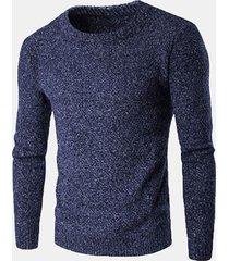 maglione in cotone a maglia
