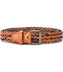 missoni two-tone braided belt - brown