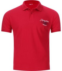 polo hombre racing team color rojo, talla s