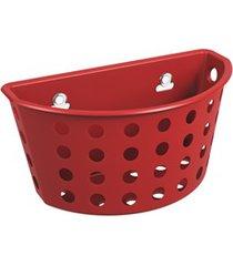 cesta com ventosas one 20,3x11,5cm vermelho bold