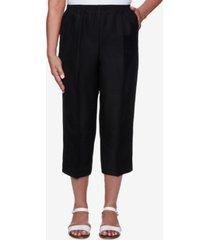 alfred dunner women's missy classics s1 textured lightweight capri pants
