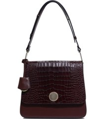 radley london porter street shoulder bag in croc embossed leather