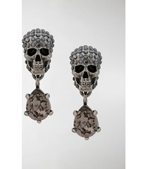 alexander mcqueen skull embellished earrings