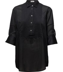 pintuck tuxedo shirt overhemd met lange mouwen zwart filippa k