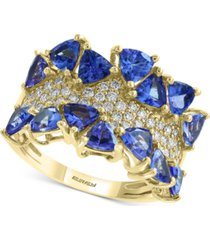 effy tanzanite (3 ct. t.w.) & diamond (3/8 ct. t.w.) ring in 14k gold