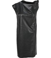 sportmax knot detail nappa dress
