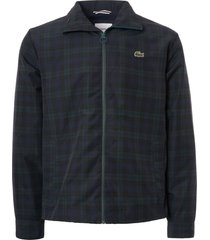 lacoste taffeta hooded jacket - check bh1443