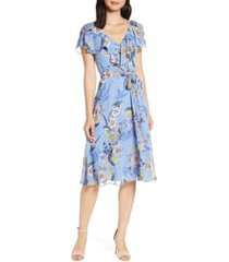 women's eliza j floral ruffle chiffon dress