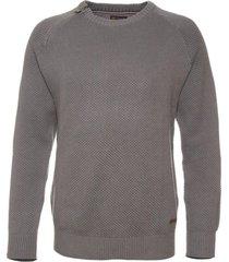 sweater cuello redondo con cierre potros