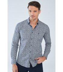 overhemd lange mouw boris becker albert patterned slim fit shirt