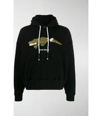 palm angels crocodile-print hoodie