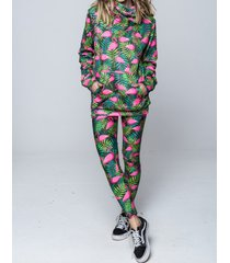legginsy flamingo jungle