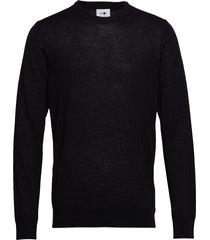 ted 6120 gebreide trui met ronde kraag zwart nn07