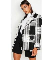 flannel oversized jacket, black