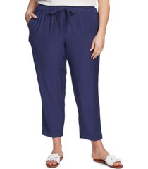 1.state trendy plus size flat-front drawstring cropped pants