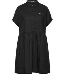 tjw shortsleeve shirt dress korte jurk zwart tommy jeans