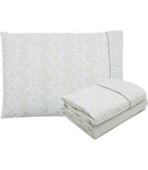 jogo de cama 3pçs solteiro artex elegance ariana verde