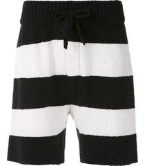 osklen striped knit shorts - black