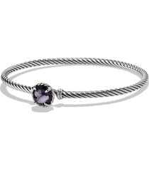 david yurman 'color classics' bangle bracelet, size large in black orchid at nordstrom