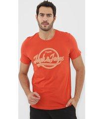 camiseta jack & jones logo laranja - laranja - masculino - algodã£o - dafiti