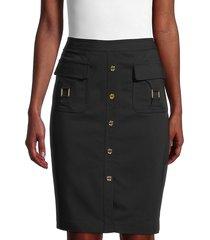 calvin klein women's cotton-blend pencil skirt - black - size 8