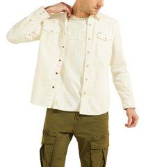 guess men's western denim shirt