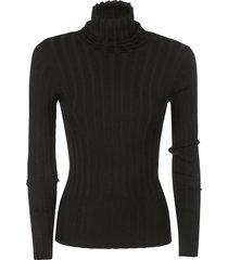 aspesi ribbed roll-neck knit sweater