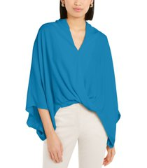 alfani petite solid dolman-sleeve blouse, created for macy's