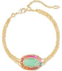 kendra scott semiprecious gemstone thread-wrapped adjustable multi-strand flex bracelet