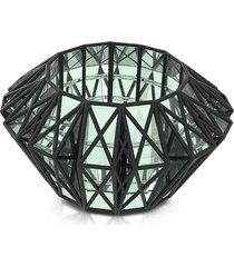 vojd studios designer bracelets, translucent glass cage cuff