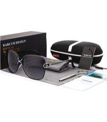gafas lentes sol mujer barcur cuadradas polarizadas uv400 8702 negro