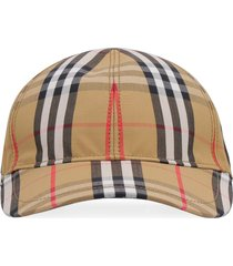 burberry vintage check motif baseball cap