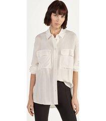 lange blouse in overhemdstijl