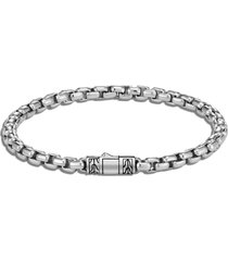 classic chain' sterling silver box chain bracelet