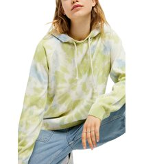 women's bdg urban outfitters tie dye hoodie, size x-small - green