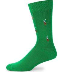 polo ralph lauren men's polo crew socks - green