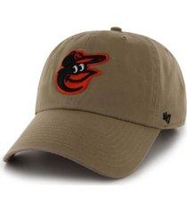 '47 brand baltimore orioles khaki clean up cap