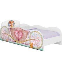 cama festa na floresta branco acetinado móveis estrela - tricae